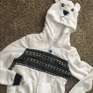 Polar Bear Pajamas One Piece Zippered XL